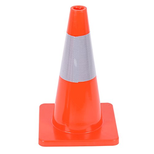 Goplus 5PCS Traffic Cones 18'' PVC Safety Road Parking Cones Driving Construction Cones Orange with 6'' Reflective Strips Collar by Goplus (Image #5)