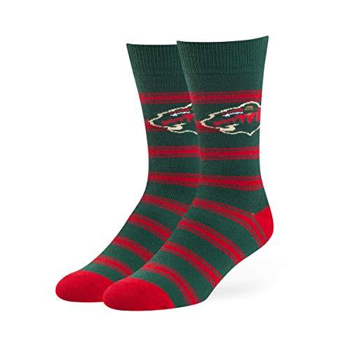 OTS NHL Minnesota Wild Male Shephard Dress Socks, Dark Green, Large