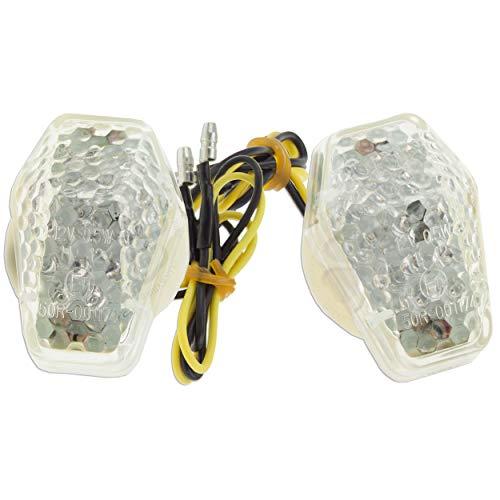 Flush Mount Turn Signal For Suzuki GSXR 600 1000 750 SV LED Light Blinker Clear ()