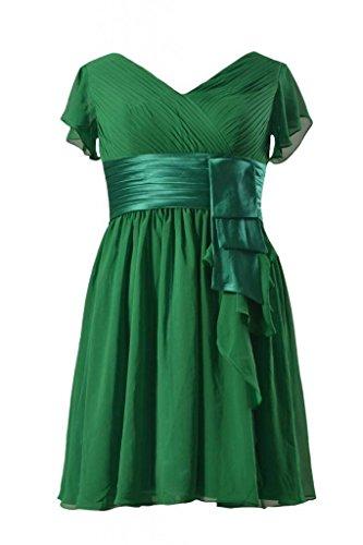 Svolazzano Maniche Daisyformals Satin Breve W Vintage 29 bmdk123 Abito verde wp7qg