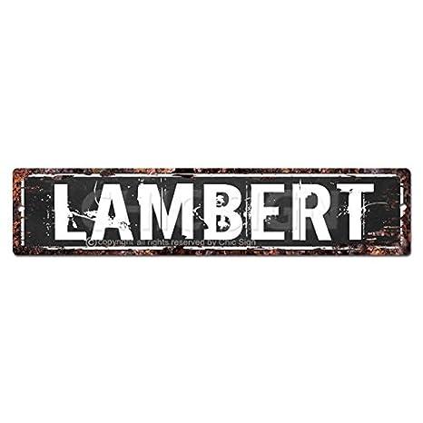 Pinkicee Lambert Man Cave Letrero, Chic rústico Calle Placa ...