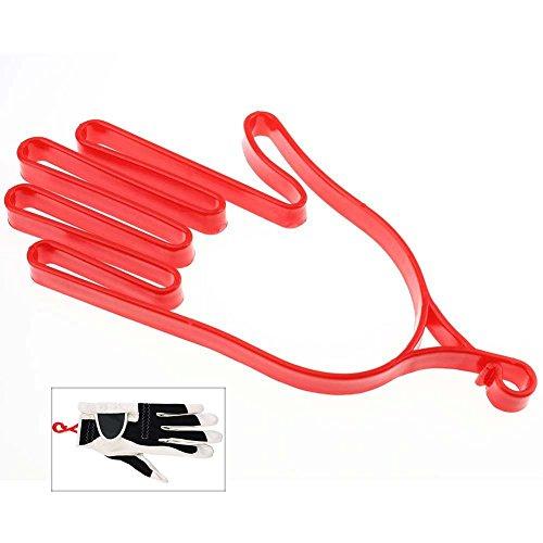 Baseball Holder Glove (Shuzhu Golf Gloves Stretcher Holder Outdoor Sport Gloves Hanger Support Frame Hanging Glove Accessories Dryer Tool Durable(red))