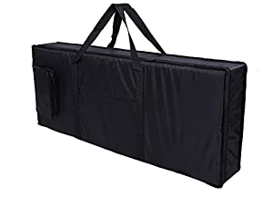 "Tosnail 61 Keyboard Bag BlackDimension: 39'' x 16"" x 6''Material: waterproof oxford cloth; Inside 6mm thick cotton cloth can protect the keyboard from damage.2-Pull zipper allows bag to be unzipped lengthwise from center.With the outside two pockets ..."
