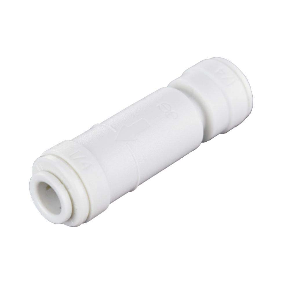 John Guest 1/4SCV Acetal Copolymer Tube Fitting, Imperial Single Check Valve, 1/4 Tube OD, 10-Pack