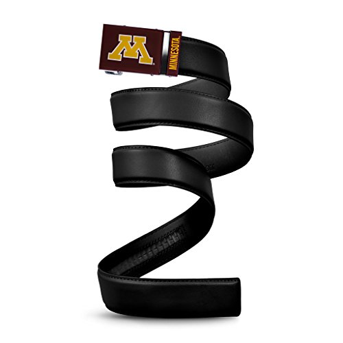 (NCAA Minnesota Golden Gophers Mission Belt, Black Leather, Small (up to)