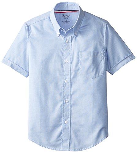 French Toast Boys' Short Sleeve Oxford Dress Shirt, Light...