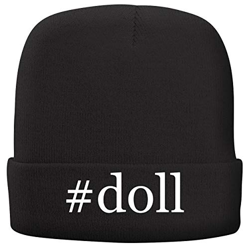 (BH Cool Designs #Doll - Adult Hashtag Comfortable Fleece Lined Beanie, Black)