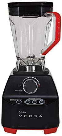 Oster Versa Blender   1400 Watts   Stainless Steel Blade   Low Profile Jar   Perfect for Smoothies, Soups, Black