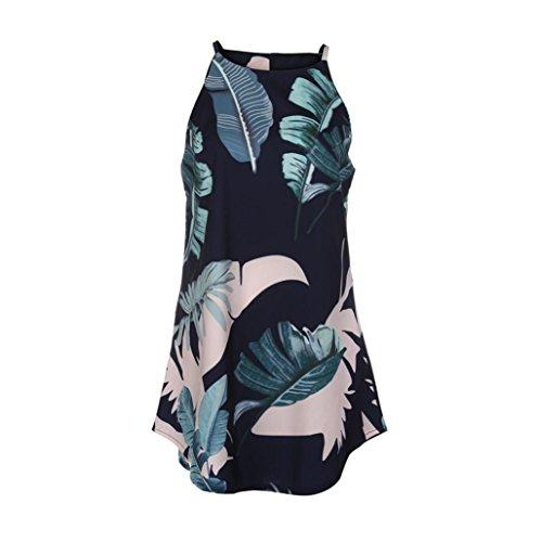 Creazydog Licol Casual Femmes Creazy Été Quitte Impression Marine Robe Mini Robe De Plage Sans Manches Plage