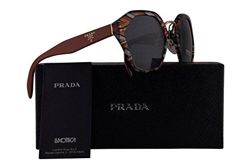 Prada PR04TS Sunglasses Orange Blue Black White w/Grey Blue 55mm Lens VAN9K1 SPR04T PR 04TS SPR - Prada Spr09q