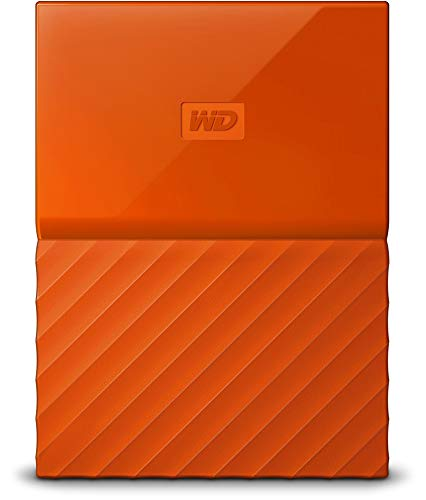 WD 4TB Orange My Passport  Portable External Hard Drive - USB 3.0 - WDBYFT0040BOR-WESN