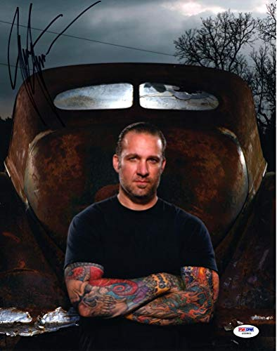 (Jesse James West Coast Choppers Signed 11x14 Photo Certified Authentic PSA/DNA COA)