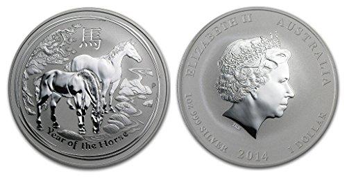 2014 AU Lunar Year of the Horse Dollar Uncirculated Mint
