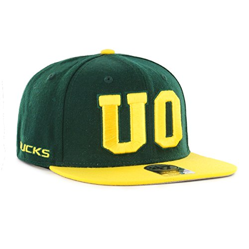 '47 NCAA Oregon Ducks Sure Shot Two Tone Captain Hat, One Size, Dark (Two Tone Duck)