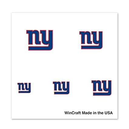 Amazoncom New York Giants Fingernail Tattoos 4 Pack Sports
