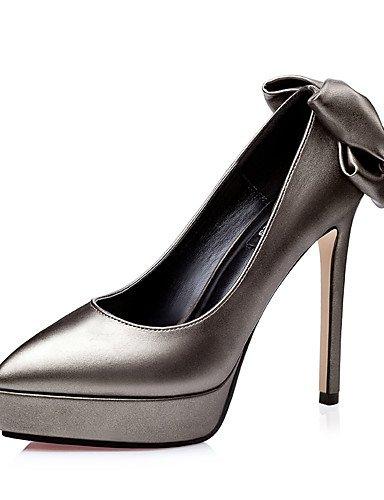 GGX/Damen Schuhe Fall Heels/spitz Zehen/geschlossen Zehen Clogs & Pantoletten Kleid Stiletto Ferse andere schwarz/braun/rot/grau brown-us5 / eu35 / uk3 / cn34