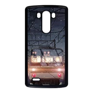 5 Centimeters Per Second Makoto Shinkai Train Snow LG G3 Cell Phone Case Black
