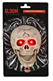 8 Inch Animated LED Light Up Skull Doorbell - Spooky Halloween Sounds