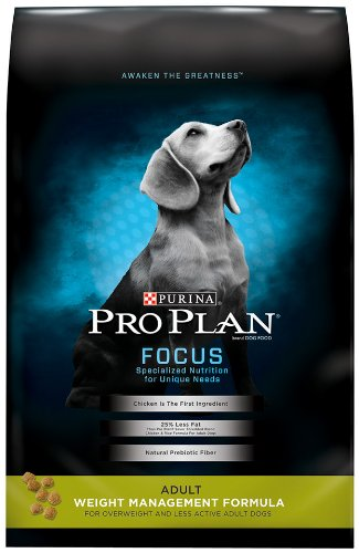 Purina Pro Plan Weight Control High Protein Dry Dog Food, FOCUS Weight Management Formula - 34 lb. Bag