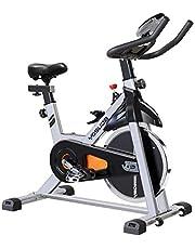 دراجة الدراجة النارية YOSUDA داخلية ثابتة - دراجة دراجة دراجة دراجة مع حامل آيباد ووسادة مقعد مريحة (رمادي)