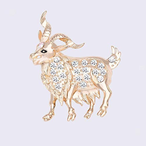 New Animals Crystal Rhinestone Pins Brooch Fashion Jewelry Party Gifts | Shape - Goat ()