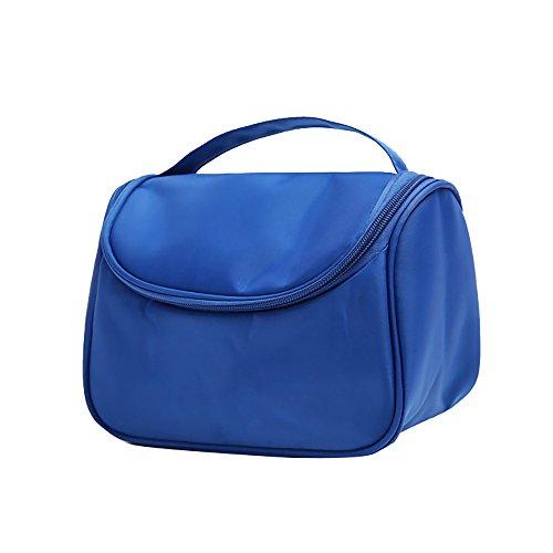 Asien Bolso cosmético multifuncional del organizador del artículo de tocador de nylon del viaje de la mano del bolso 1pcs azul