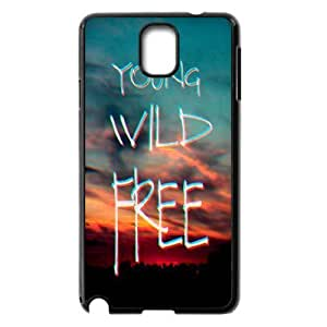Brand New Phone Case for Samsung Galaxy Note 3 N9000 with diy Young, wild & free
