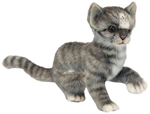 Hansa Kitten Plush, Grey/White
