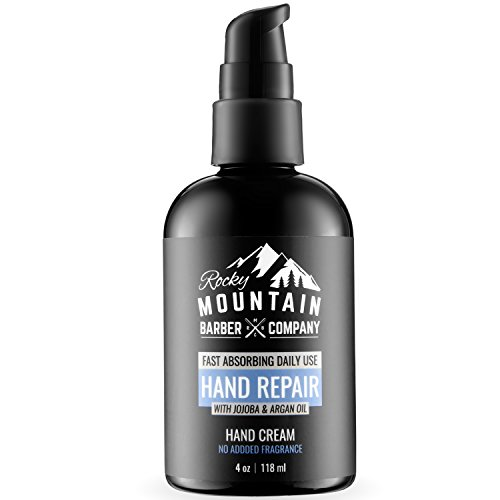Hand Moisturizer - Hydrates, Protects & Heals Dry, Cracked Hands - Contains Natural Ingredients Like Argan Oil & Jojoba Oil - No Added Fragrance - 4 oz
