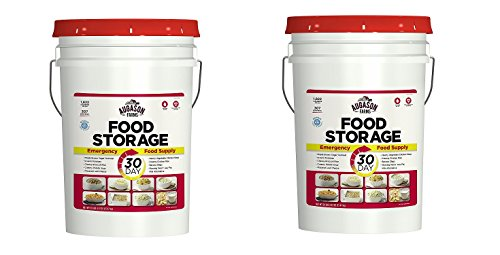 Augason Farms 30-Day Emergency Food Storage Supply 29 lb 4.37 oz 7 Gallon Pail (2 PAILS)