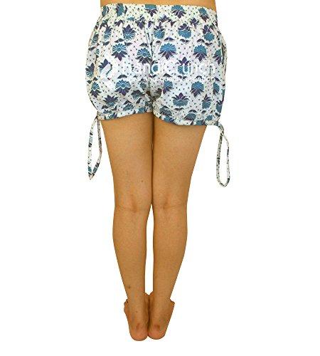 con tasche fatte Esportazioni da Pantaloncini pantaloncini con donna da mandala a da mano spiaggia yoga estivi stampa ZdawnHFaqx