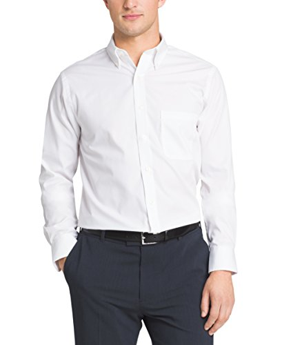 Van heusen men 39 s pinpoint regular fit solid button down for Pinpoint button down dress shirt