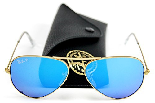 Ray-Ban RB3025 112/4L Aviator Sunglasses Blue Mirror Polarized Lens - Blue Ban Ray Aviator Sunglasses