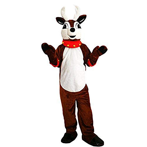 Krister Lovely Deer Reindeer Mascot Costume Adult Halloween Costume Brown ()
