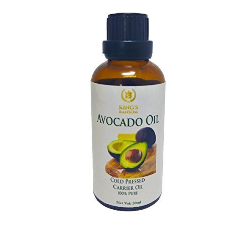Kingâ€s Ransom Organic Avocado Oil, 50Ml -Pure Cold Pressed Carrier Oil, with Euro Dropper