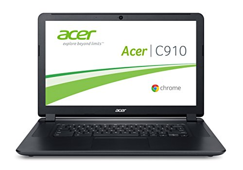 Acer Chromebook C910-354Y 39,6 cm (15,6 Zoll Full HD) Notebook (Intel Core i3-5005U, 4GB RAM, 32GB SSD, Intel HD Graphics 5500, Google Chrome OS) schwarz