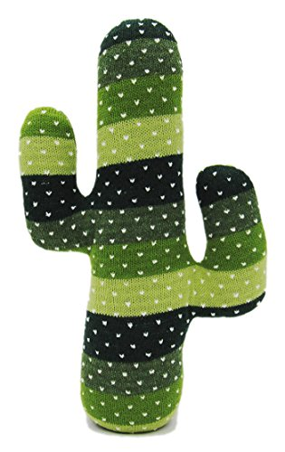 EDLDECCO Decorative Door Stopper Artificial Handicraft Fabric Plush Cactus Door Stop Home Bedroom and Office Table Green St. Patrick's Day Decoration
