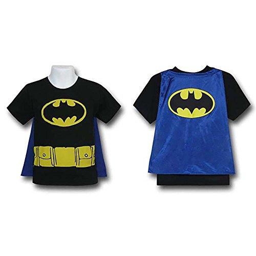 [Batman Toddler Kids Child Costume Cape T-Shirt (4T)] (Toddler Batman Costumes)