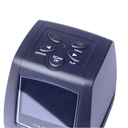 Del-Digital 35mm Negative Slide Film Scanner Photo Digitalizer Analog to Digital JPEG Picture File Converter Films Photo Scanner Copier 2.4'' LCD, US Power Plug by Del-Digital (Image #3)