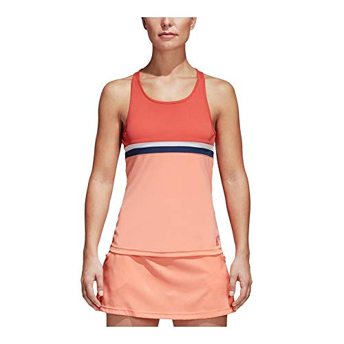 adidas Women's Tennis Club Tank Top, Trace Scarlet, XX-Small by adidas (Image #3)