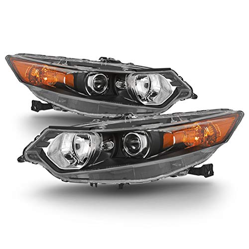 For 2009 2010 2011 2012 2013 2014 Acura TSX Sedan HID Xenon Type Headlights Driver Left + Passenger Right Side Pair