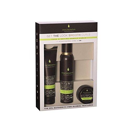Macadamia Natural Oil 'Get The Look' Smooth Curls Set - マカダミアナチュラルオイル「外観を得る」を設定し、滑らかなカール [並行輸入品] B072537SQW