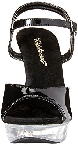 Platform Black Sandal Ctail509 Pleaser c Women's Clr b nABqzI