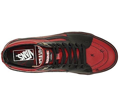 Vans Unisex X Marvel SK8-Hi Skate Shoes (11 Women / 9.5 Men M US, Deadpool Black) by Vans (Image #8)