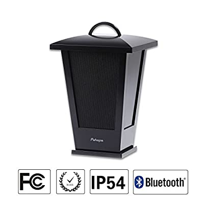 Pohopa B210 Black Wireless Outdoor Speaker, Portable Waterproof Bluetooth Speaker, Lantern with 36 LED Lights, 4400mah Rechargeable Battery from Pohopa