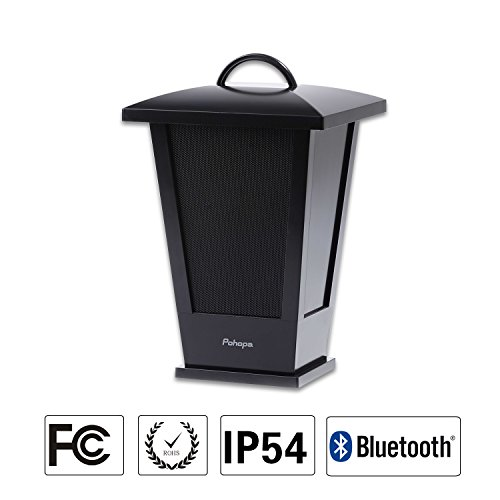 Pohopa B210 Black Wireless Outdoor Speaker, Portable Waterproof Bluetooth Speaker,
