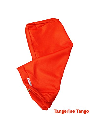 Review 4 Pack Outdoor Patio Chair Washable Cushion Pillow Seat Covers 24″ X 22″ – Replacement Covers Only, X4 Tangerine Tango