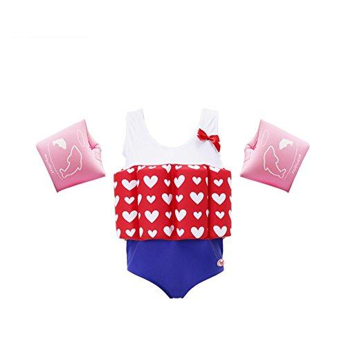 Flotation Swimwear (Lemandii Swimwear Floatation Swimsuits with Adjustable Buoyancy for 1-10 Years Baby Girls)