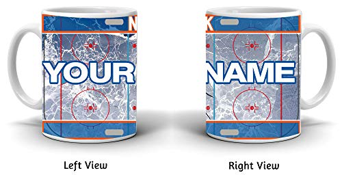 BRGiftShop Customize Your Own Hockey Team New York Orange 11oz Ceramic Coffee Mug