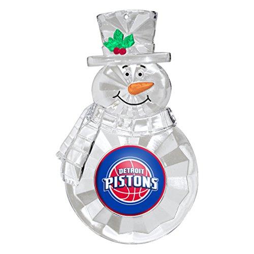 NBA Detroit Pistons Traditional Snowman Ornament